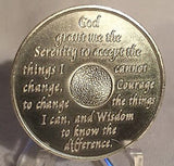 Red & Silver Plated Any Year 1 - 55 AA Chip Alcoholics Anonymous Medallion Coin Plate - RecoveryChip