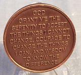 Step 7 Copper Twelve Step Medallion AA NA Recovery 12 Steps Serenity Prayer Chip