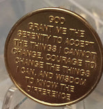 But For The Grace of God Serenity Prayer Medallion Chip Coin AA NA Praying Hands - RecoveryChip