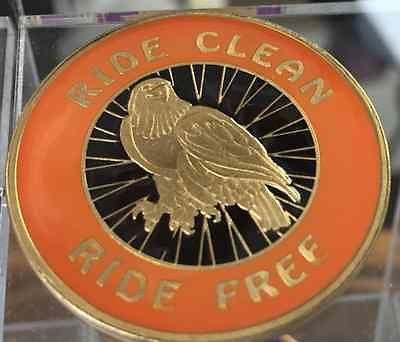 Ride Clean Ride Free Bronze Orange & Black Eagle Recovery Medallion Coin Chip - RecoveryChip
