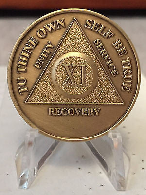 Bronze AA Medallions 1 2 3 4 5 6 7 8 9 10 Years Lot of 10 Alcoholics Anonymous - RecoveryChip
