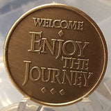 Welcome Enjoy The Journey Recovery Is A Process Medallion or Keychain