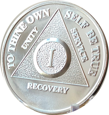 .999 Fine Silver Any Year 1 - 30 35 40 45 50 55 60 AA Alcoholics Anonymous Medallion - RecoveryChip