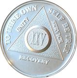 .999 Fine Silver Any Year 1 - 30 35 40 45 50 55 60 AA Alcoholics Anonymous Medallion