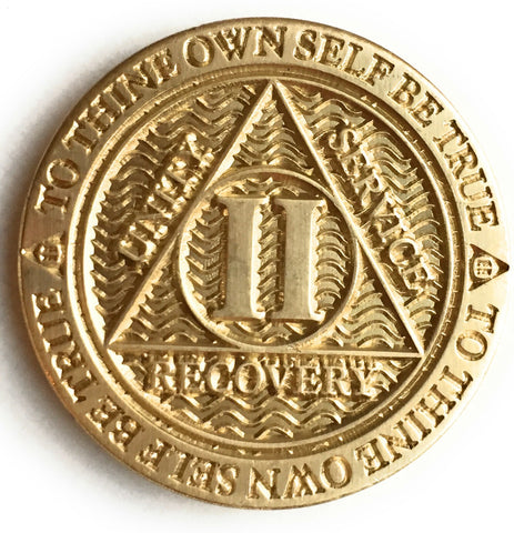 1 2 3 4 or 5 Year Reflex Bronze AA Medallion Sobriety Chip - RecoveryChip