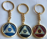Tri-Plate AA Medallion Keychain Holder For Bright Star Press Triplate Medallions - RecoveryChip