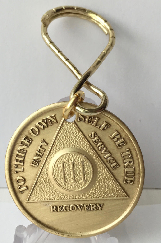 AA Medallion Bronze Anniversary Keychain Year 1 - 65 - RecoveryChip
