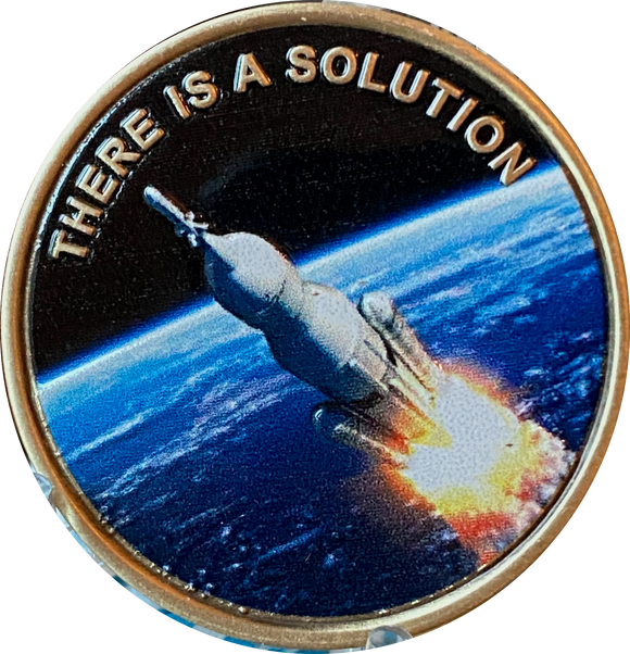 There is A Solution Color AA Rocketed Into A 4th Dimension Sobriety Chip