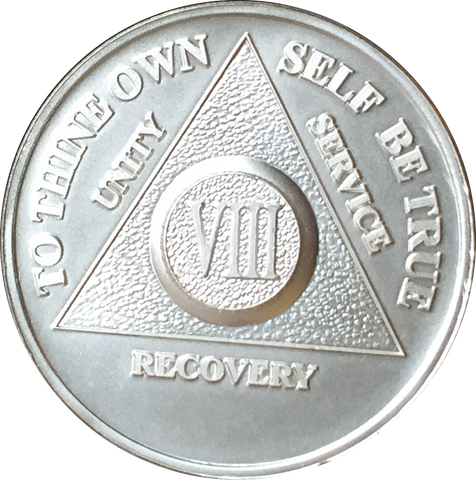1-30 35 40 Year .999 Fine Silver AA Alcoholics Anonymous Medallion Chip Coin