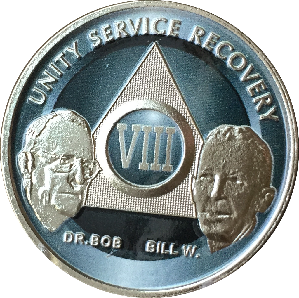 AA Founders Any Year 1 - 65 Medallion Titanium & Nickel Plated Chip Bill W Dr Bob - RecoveryChip