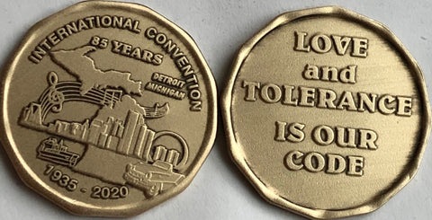 AA International Convention Medallion Detroit 2020 Celebrating 85 Years - RecoveryChip
