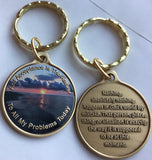 Acceptance Is The Answer Beach Sunrise Color Bronze AA Keychain 449 417 - RecoveryChip