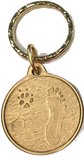 Always By My Side Dog Pet Paw Print Footprint Beach Bronze Seashell Keychain - RecoveryChip