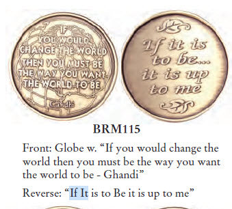 Bulk Lot of 25 - If It Is To Be It Is Up To Me Bronze Medallion - RecoveryChip