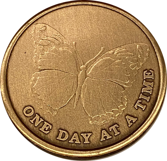 Butterfly One Day At A Time Medallion With Serenity Prayer