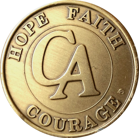 Official CA Medallion Cocaine Anonymous Bronze Sobriety Chip Year 1 - 5 - RecoveryChip