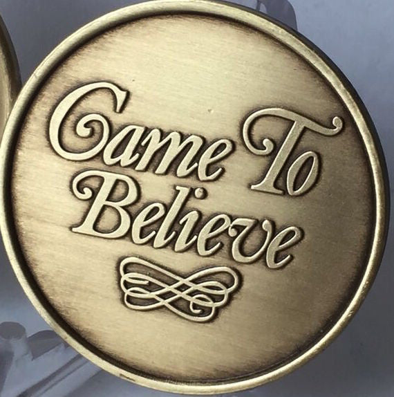 Came To Believe - Serenity Prayer AA Medallion Chip RecoveryChip Design - RecoveryChip
