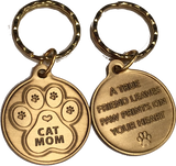 Cat Mom - A True Friend Pet Keychain RecoveryChip Design - RecoveryChip