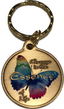 Change Is The Essence of Life Color Butterfly Bronze Serenity Prayer Keychain - RecoveryChip