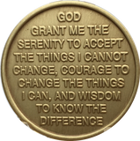 Change Is The Essence Of Life Color Rainbow Butterfly Serenity Prayer Medallion Chip - RecoveryChip