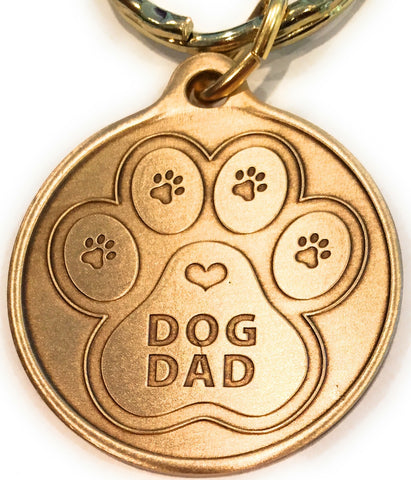 Dog Dad - A True Friend Dog Pet Keychain RecoveryChip Design - RecoveryChip