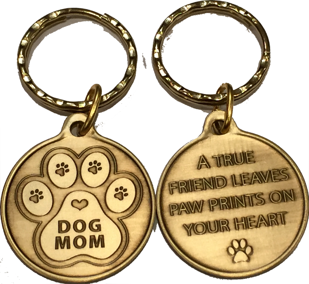 Dog Mom - A True Friend Dog Pet Keychain RecoveryChip Design - RecoveryChip