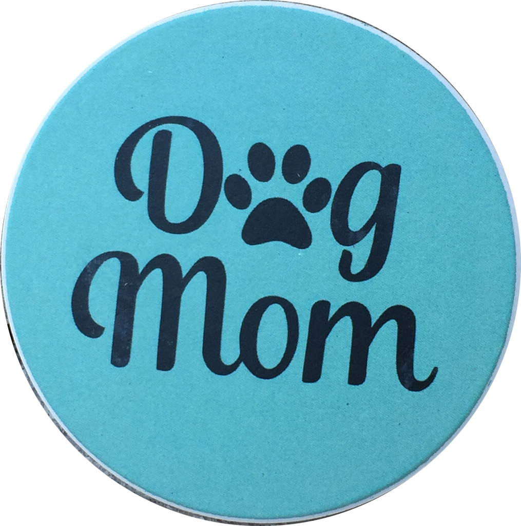 Dog Mom Paw Print Auto Car Coaster Absorbent Stone - RecoveryChip