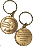 Dr Bob Rx Prescription Bronze AA Founders Keychain Always Remember It - RecoveryChip