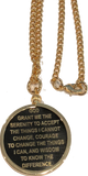 Recoverychip Reflex or Elegant AA Medallion Holder Necklace Gold Plated Sobriety Coin Jewelry - RecoveryChip