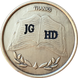Personalized Custom AA NA Sponsor Thank You Medallion Chip With Engraved Initials - RecoveryChip