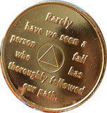 AA Founders Red Gold Plated Any Year 1 - 65 Medallion Alcoholics Anonymous Chip Bill W Dr Bob - RecoveryChip