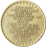 In The Spirit Of Love Bronze Native American Medalion Chip Coin Great Spirit - RecoveryChip