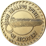 Healing Spirit of Recovery Medallion Native American Chip Coin AA Great Spirit Prayer Bronze - RecoveryChip