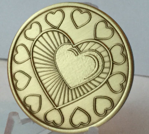 My Heart Is In Recovery Medallion Chip Sobriety Coin One Day At A Time ODAAT - RecoveryChip