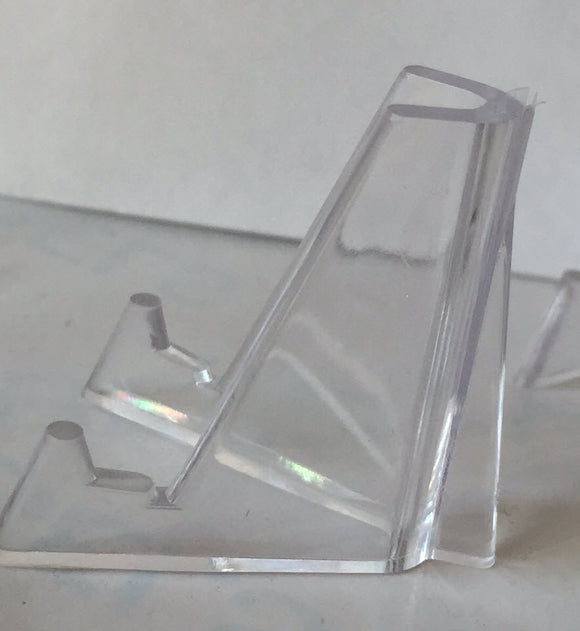 Lot of 25 Clear Plastic Chip Stand Medallion Coin Holder Easel 1.375