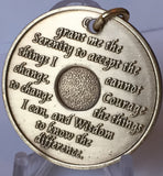 AA 24 Hours Medallion Key Chain Sobriety Chip With Serenity Prayer Bronze - RecoveryChip