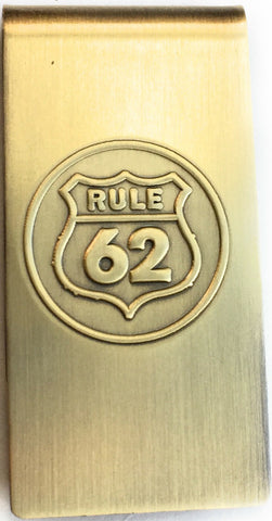 Rule 62 Don't Take Yourself Too Damn Serious AA Brass Sobriety Money Clip - RecoveryChip