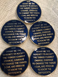 Paint Issue On Back 1 Year AA Medallion Reflex Blue Gold Plated Sobriety Chip - RecoveryChip