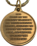 Universe One Day At A Time Bronze Keychain With Serenity Prayer - RecoveryChip