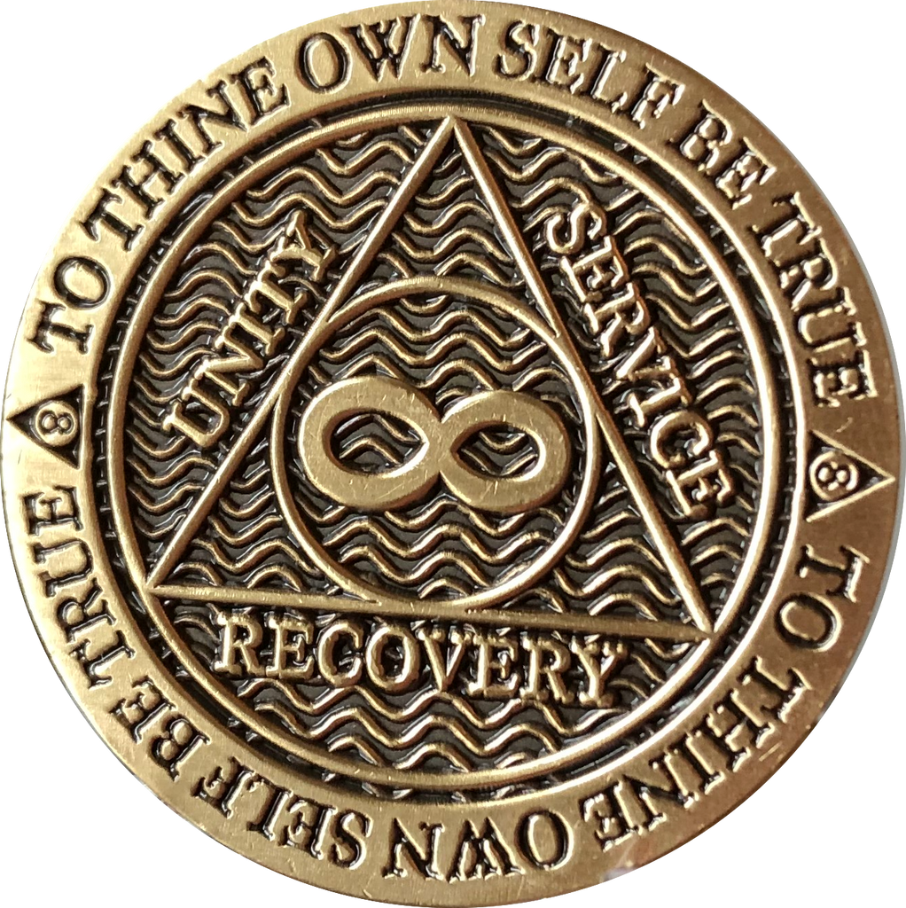 Infinity Eternity AA Medallion Chocolate Bronze Color Sobriety Chip - RecoveryChip