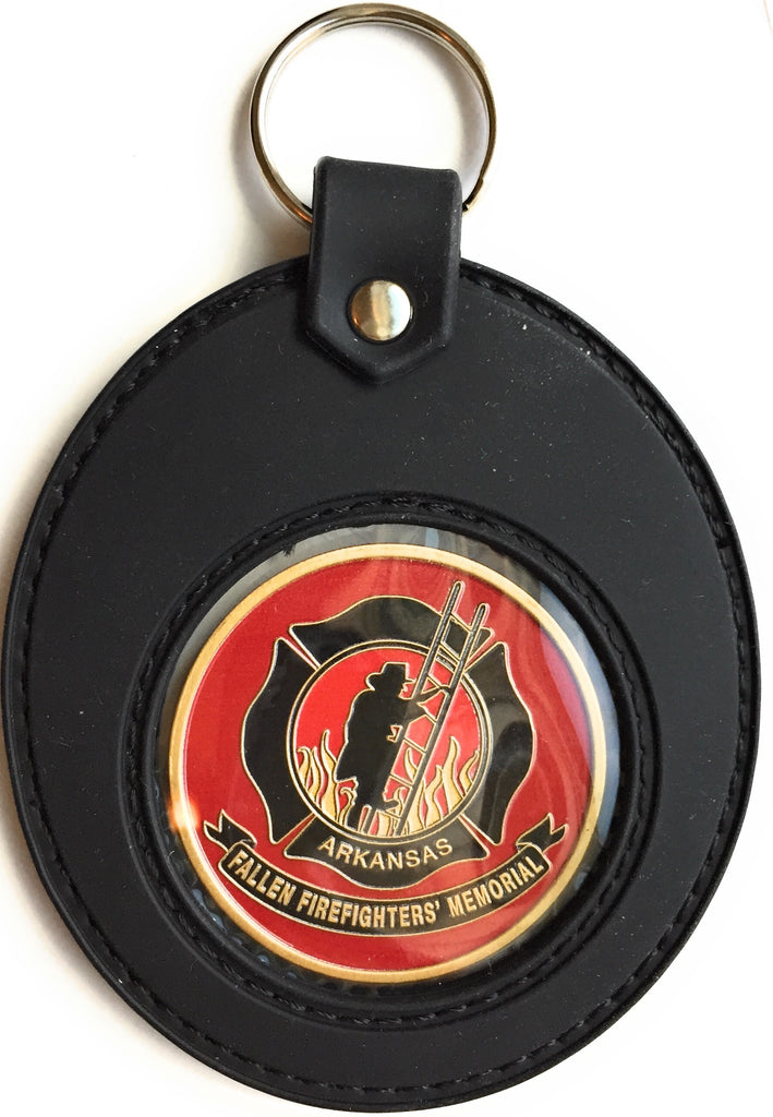 Challenge Coin Large Universal Fit Black Silicone Holder Keychain - RecoveryChip
