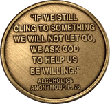Let Go Let God Color Butterfly Step 6 Willingness AA Medallion Chip - RecoveryChip