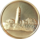 Fog Light Prayer Lighthouse Clean Bronze Medallion AA NA Chip - RecoveryChip