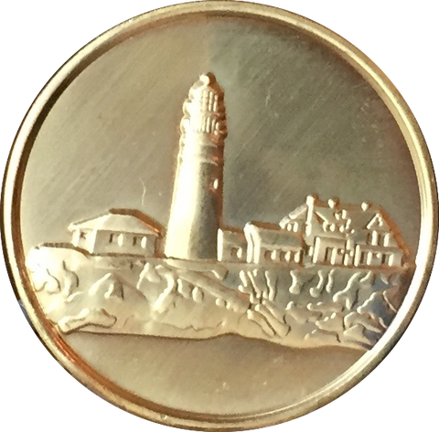 Fog Light Prayer Lighthouse Clean Bronze Medallion AA NA Chip