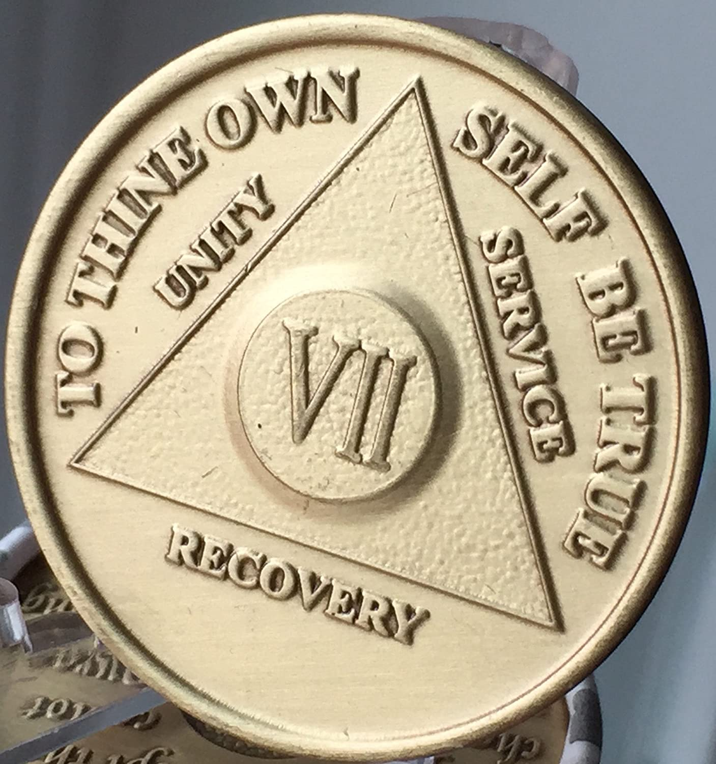 aa alcoholics anonymous bronze 59 year recovery sobriety coin medallion