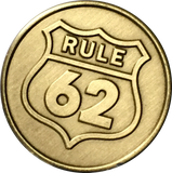 Bulk Lot of 25 - Rule 62 Don't Take Yourself Too Damn Serious AA Chip Sobriety Medallion RecoveryChip Design - RecoveryChip