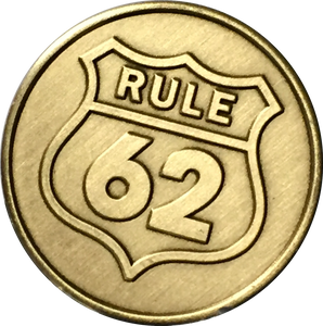 Rule 62 Don't Take Yourself Too Damn Serious AA Chip Sobriety Medallion RecoveryChip Design - RecoveryChip