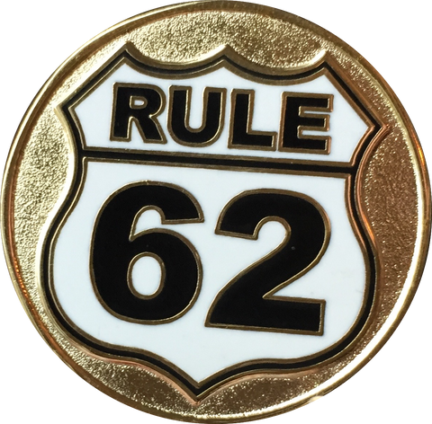 Gold Plated Rule 62 Color Don't Take Yourself Too Damn Serious AA Chip Sobriety Medallion - RecoveryChip