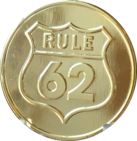 Rule 62 Gold Tone Don't Take Yourself Too Damn Serious AA Chip Sobriety Medallion RecoveryChip Design - RecoveryChip