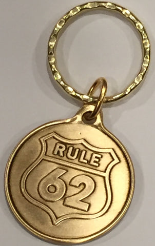 Rule 62 - Don't Take Yourself Too Damn Serious AA Medallion Keychain - RecoveryChip